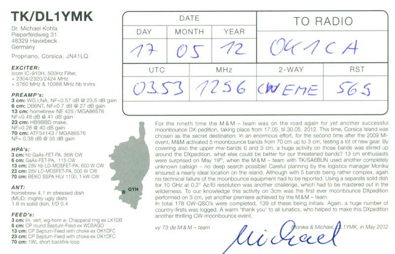OK1CA - Galerie: 1296 MHz